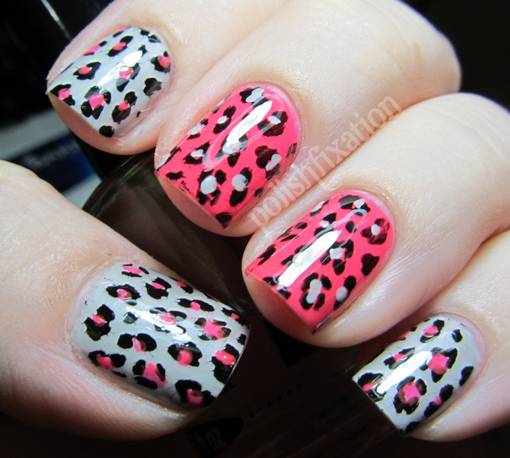 polish fixation: Edgy Leopard Print Stamping: Hair Nails Styl, Nails Hair, Nails Nails Nails, Nails Polish, Leopards Prints, Nails Animal, Edgy Leopards, Leopard Prints, Nails 3