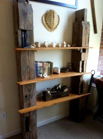 Custom Made Reclaimed Barn Wood Shelving Nautical House