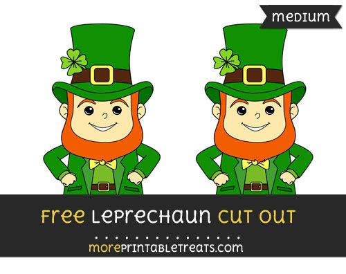 graphic regarding Leprechaun Cut Out Printable named Absolutely free Leprechaun Minimize Out - Medium Measurement Printable No cost