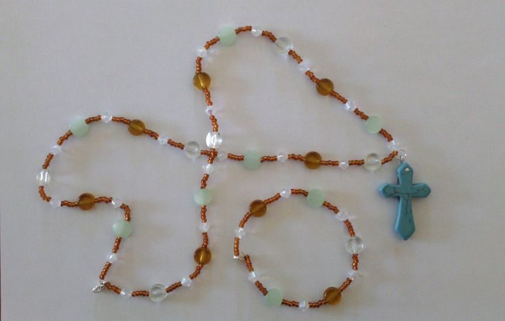 Necklace and matching bracelet.