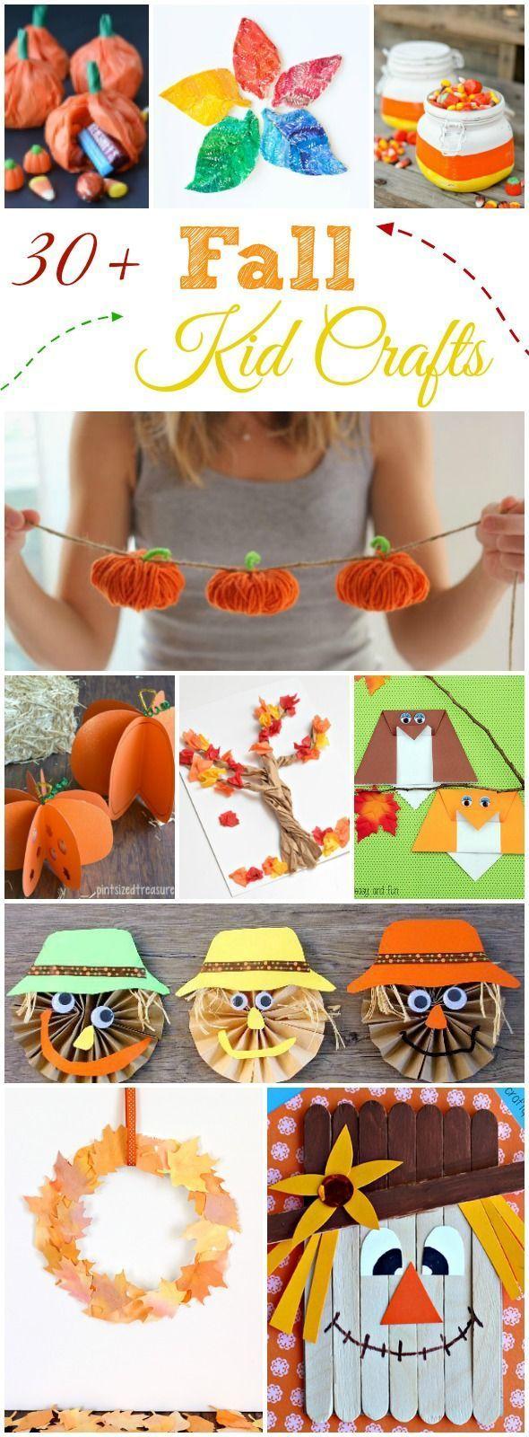 30+ Fall Kid Crafts