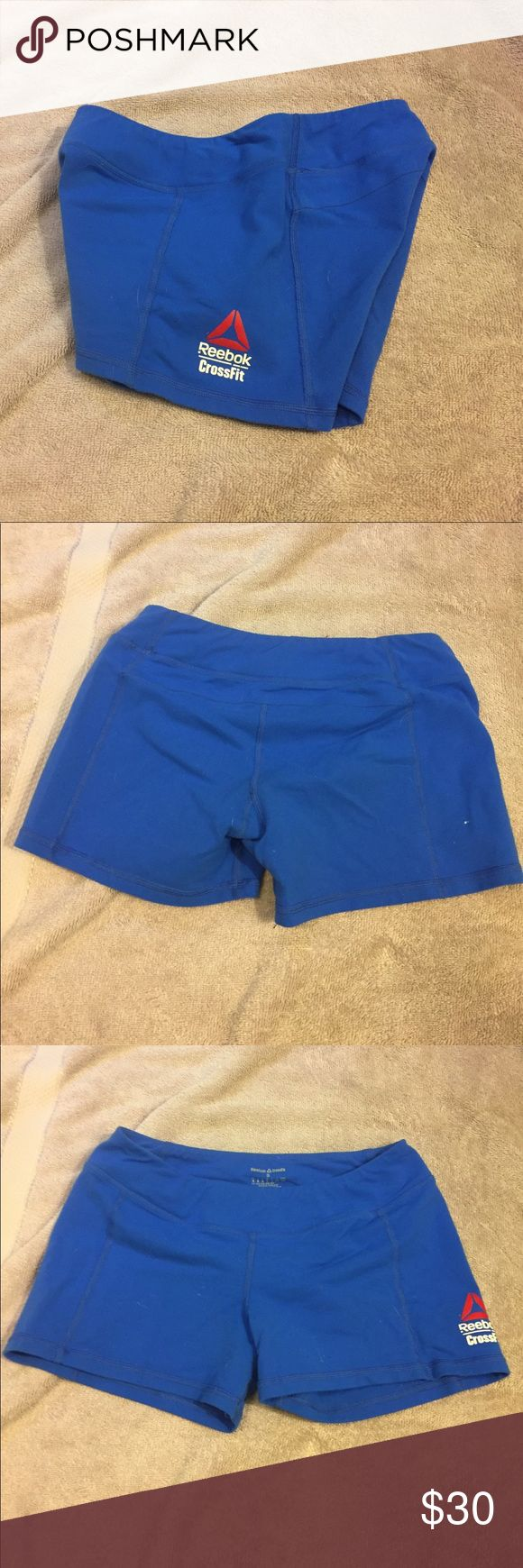 Reebok CrossFit Shorts Royal blue Reebok CrossFit shorts. I've worn them maybe 3 times? I just don't love the fit. From the 2015 games season, key pocket in front, very good condition. Reebok Other