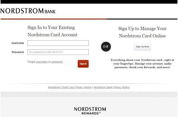 Nordstrom Credit Card Login To Access Your Account