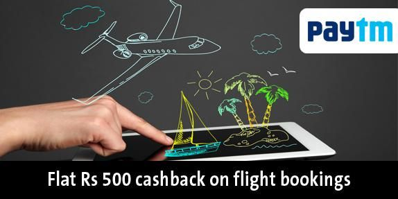 Get 500 Cashback Pay WITH Paytm Wallet on cleartrip domestic flight booking