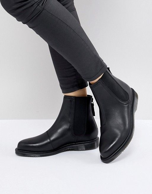 0ea30792147 Dr Martens Zillow Refine Chelsea Boot in Black Leather in 2019 ...