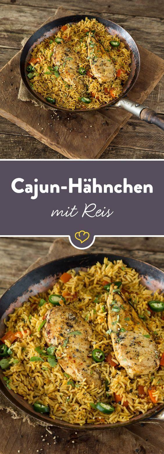 Würziges Cajun-Hähnchen mit Reis