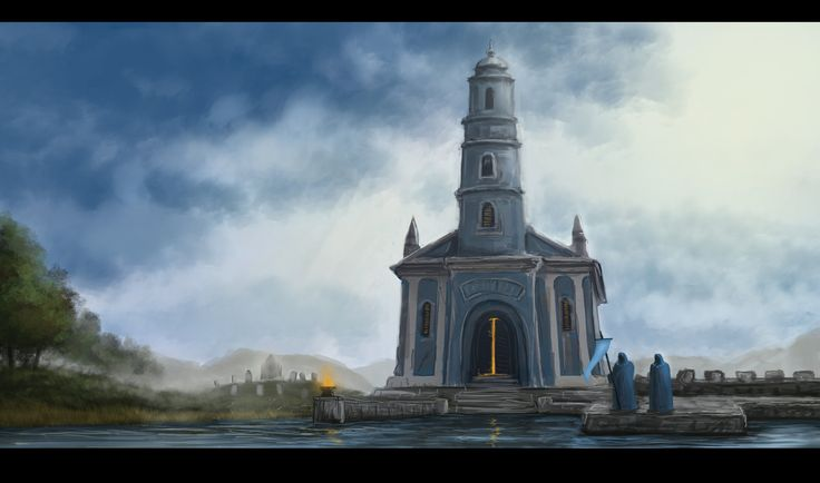 Water Tempel, Janos Csernik on ArtStation at https://www.artstation.com/artwork/YG4KY
