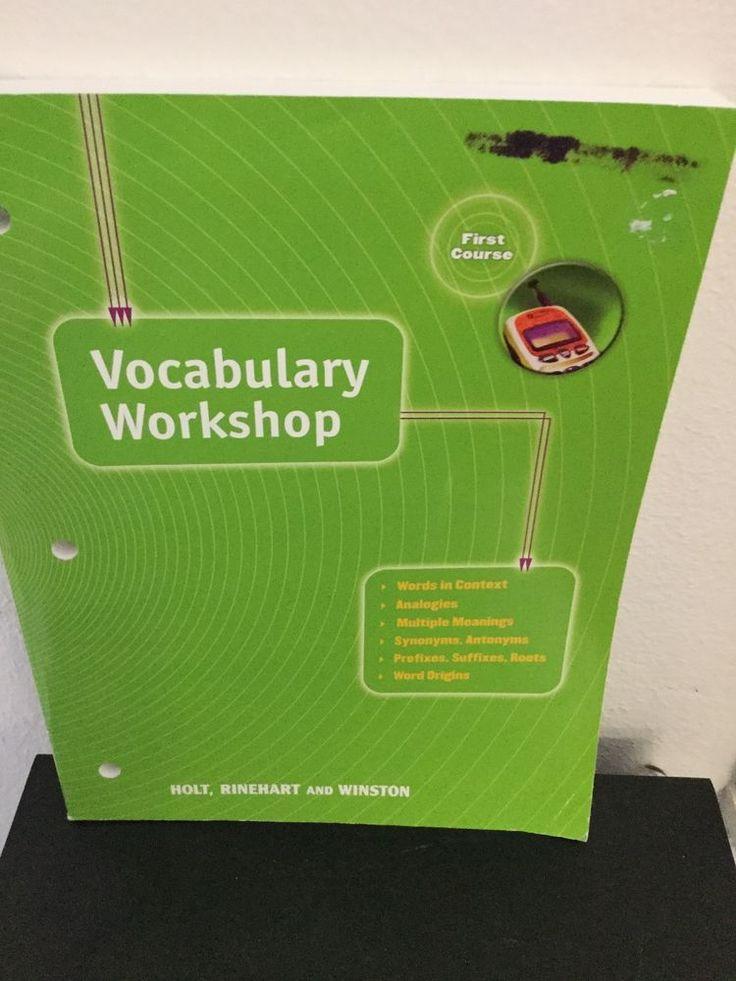 VOCABULARY WORKSHOP 1ST COURSE. HOLT, RINEHART AND WINSTON, PAPERBACK #WorkbookStudyGuide
