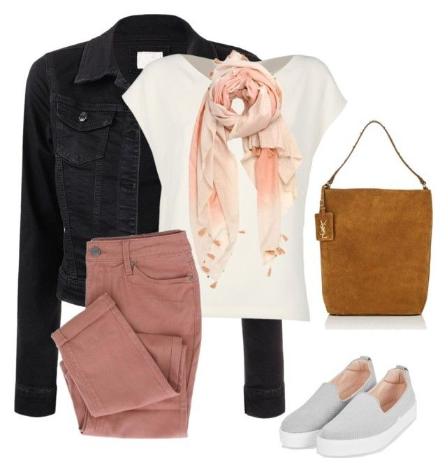"""autumn#brown#pastell#149"" by bidlekerika on Polyvore featuring Alberto Biani, Topshop, Michael Stars and Yves Saint Laurent"