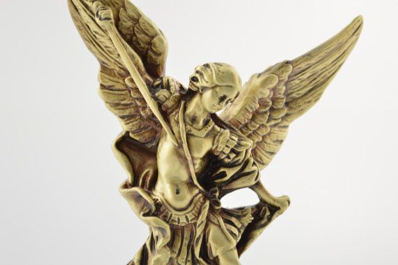 Saint Michael the Archangel 8.6inches by CraftsAndMetal on Etsy