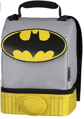 Batman Dual Compartment Lunch Box /Tote with Cape!!!!