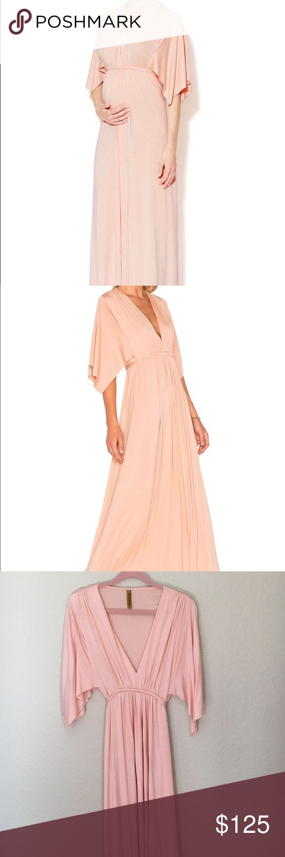 """Rachel Pally dress Rachel Jersey knit caftan dress in Rosewater. Like new, worn once for maternity pictures. A celeb favorite. The length was cut down, it is 55.5"""" shoulder to hem. 92% modal, 2% spandex. So soft and comfortable! Rachel Pally Dresses Maxi"""