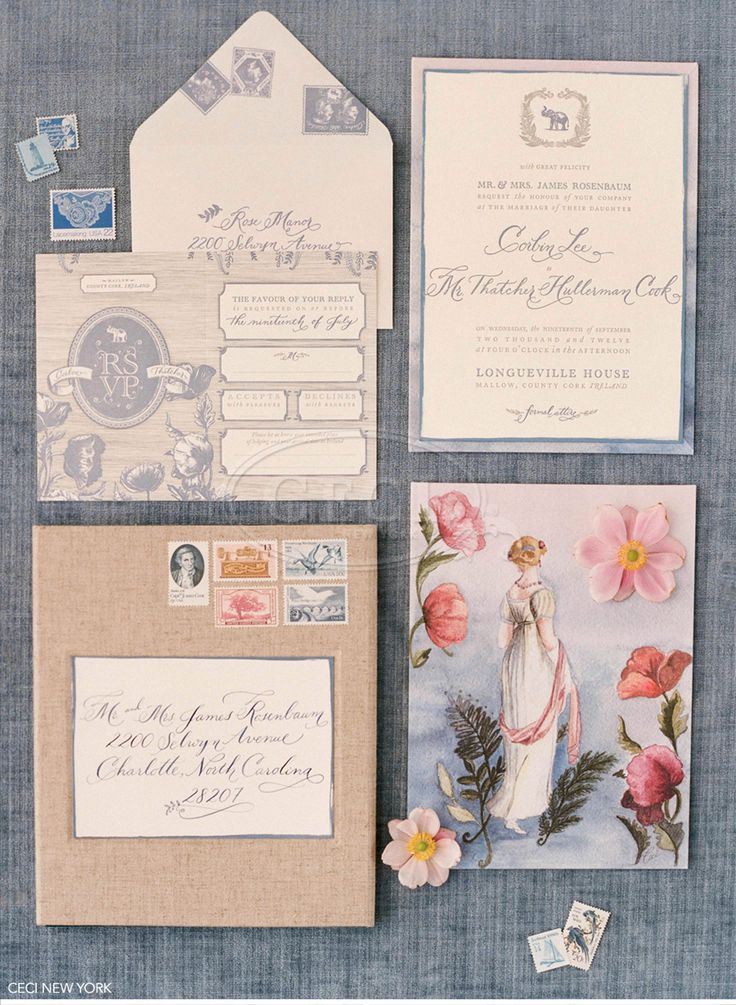 Old Word Invitations A mix of