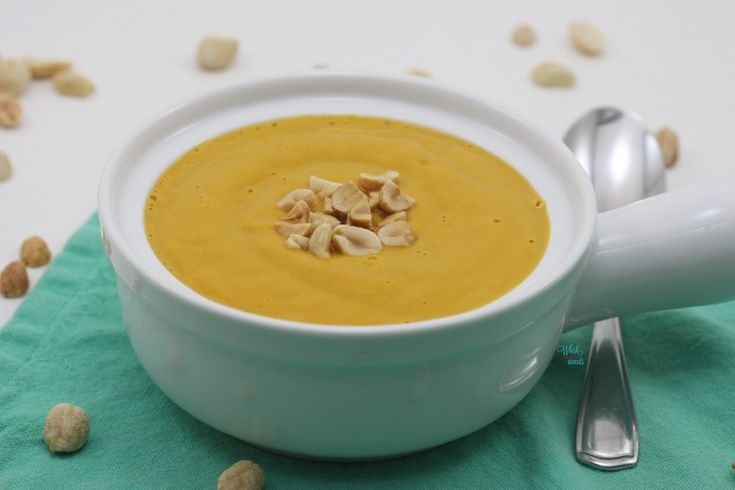 Spicy Peanut Butter Squash Soup (vegan and gluten free friendly)