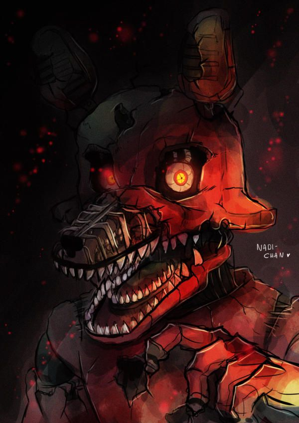 Nightmare Foxy Fnaf4 By Nadi Chan Fnaf Wallpapers Fnaf Art Fnaf Foxy