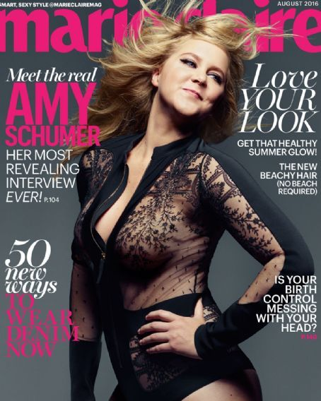 Amy Schumer - Marie Claire Magazine Cover [United States] (August 2016)