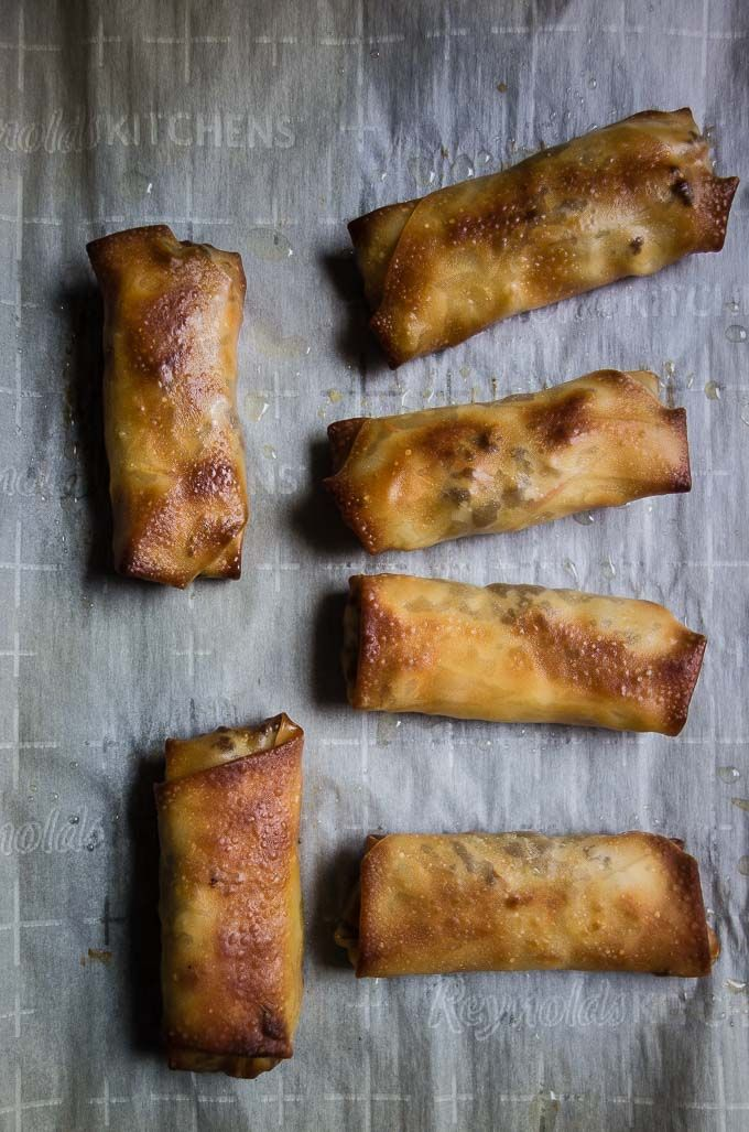 Fried Korean Egg Rolls With Ground Beef Recipe Egg Rolls Homemade Egg Rolls Egg Rolls Baked