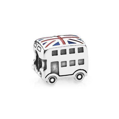OMG! I WANT THIS! PANDORA | London bus, blue & red enamel