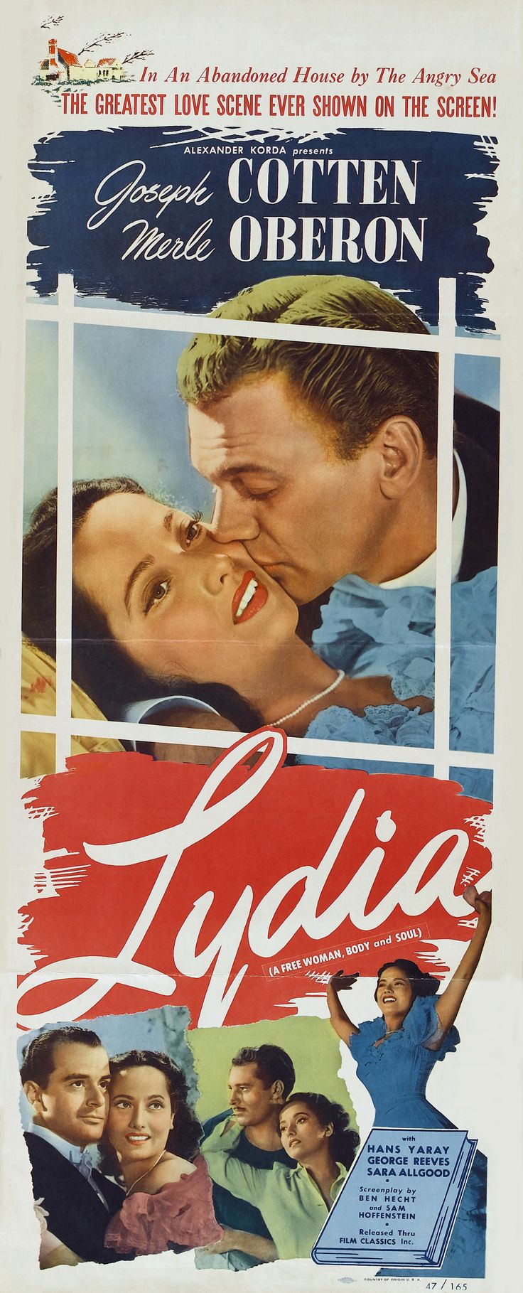 Lydia (1941) Merle Oberon, Edna May Oliver, Alan Marshal, Joseph Cotten, George Reeves