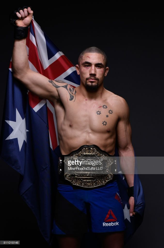 UFC interim middleweight champion Robert Whittaker poses for a portrait after his victory over Yoel Romero during the UFC 213 event at T-Mobile Arena on July 8, 2017 in Las Vegas, Nevada.  (Photo by Mike Roach/Zuffa LLC/Zuffa LLC via Getty Images)