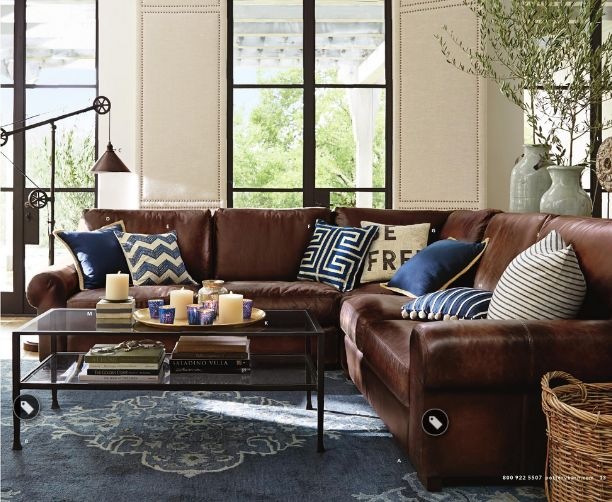 33 Best Dark Furniture Decor Images On Pinterest Brown Leather Couches Living Room
