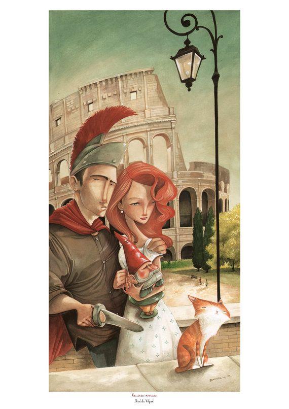 Print Vacanze romane by DanielaVolpari on Etsy