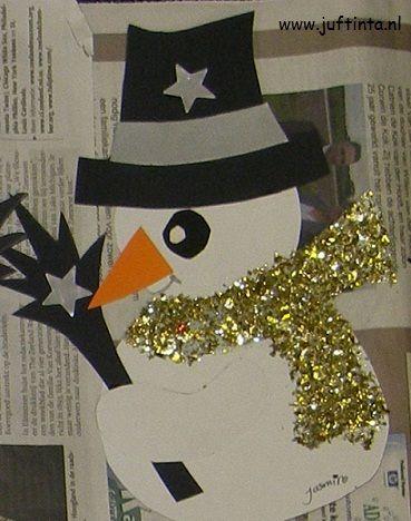 sneeuwpop met glittersjaal 1