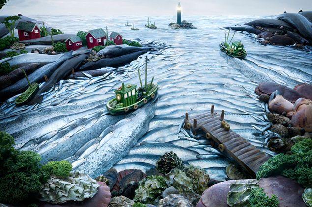 Carl Warner: Fishscape / Fotos mit Lebensmitteln und Tieren