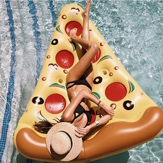 Float like a king! Our Pizza Floatie comes fully loaded with all the toppings, two can / bottle holders for your favorite pizza complimenting beverage. And we went above and beyond to engineer the per