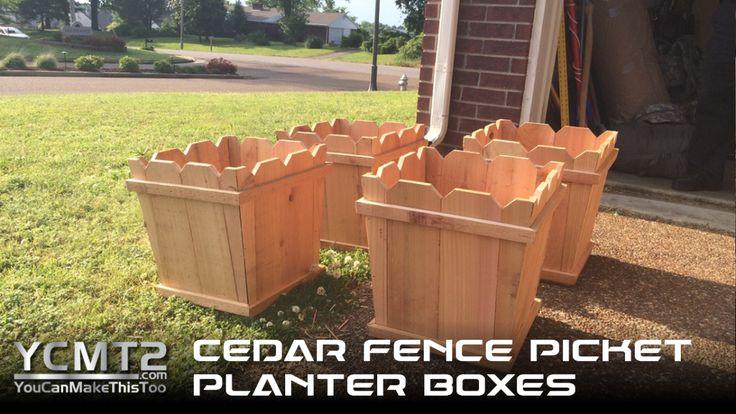 Cedar Fence Picket Planters