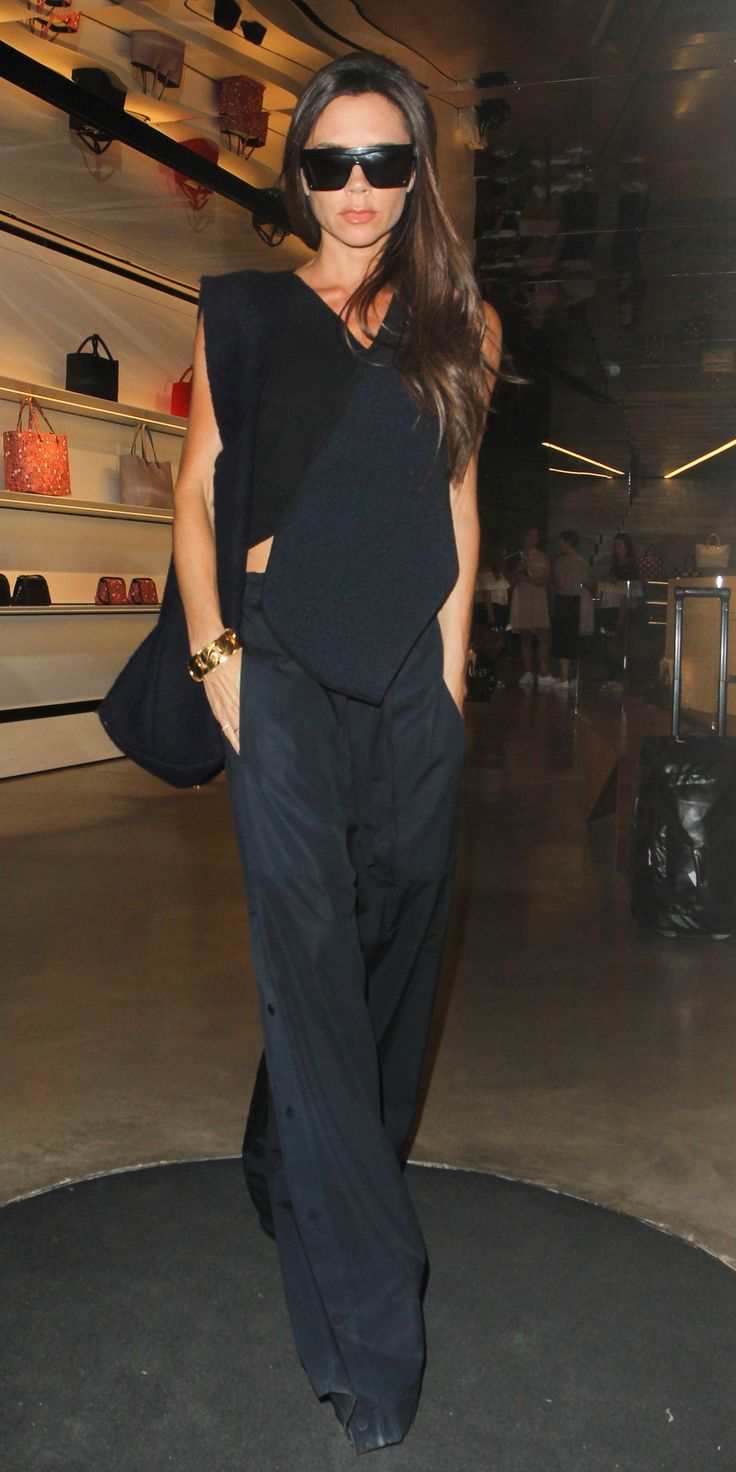 Victoria Beckham Takes Street Style to the Next Level at Her Estée Lauder Collection Preview from InStyle.com
