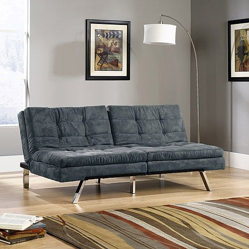 sauder studio edge durant microfiber convertible sofa futon multiple colors  furniture   walmart  16 best convertible winged sofa images on pinterest   futons 3 4      rh   pinterest