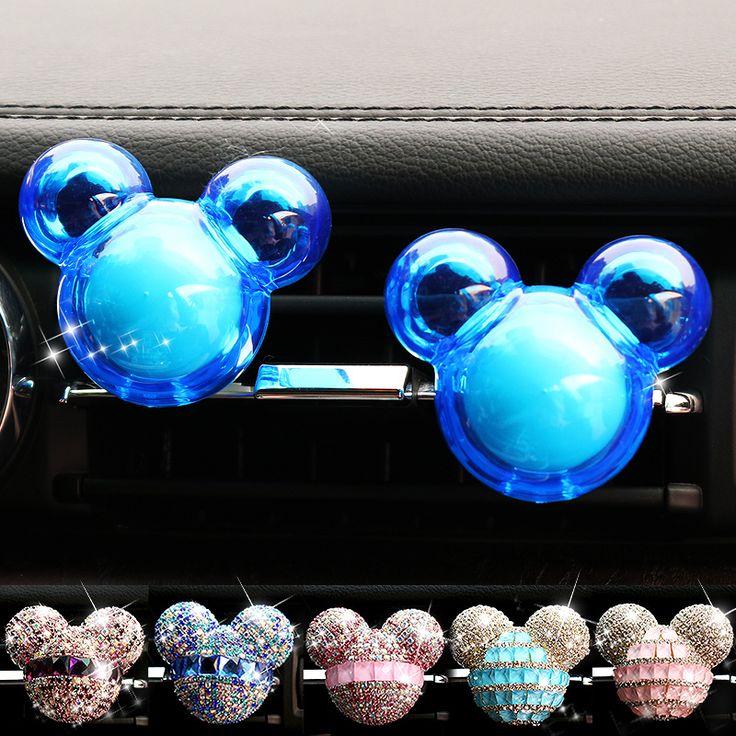 Car-styling Bling Crystal Perfumes 100 Mujeres Originales Del Coche perfume Ambientador de Aire Del Coche de Ventilación de Aire Acondicionado Aroma En la coche