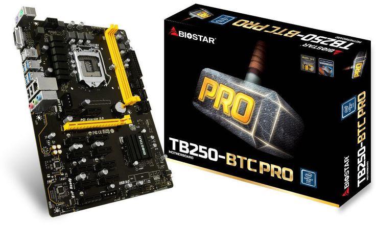 computer parts: Biostar Tb250-Btc Pro Lga 1151 Intel B250 Sata 6Gb S Atx Motherboard 12 Gpu! -> BUY IT NOW ONLY: $214.99 on eBay!
