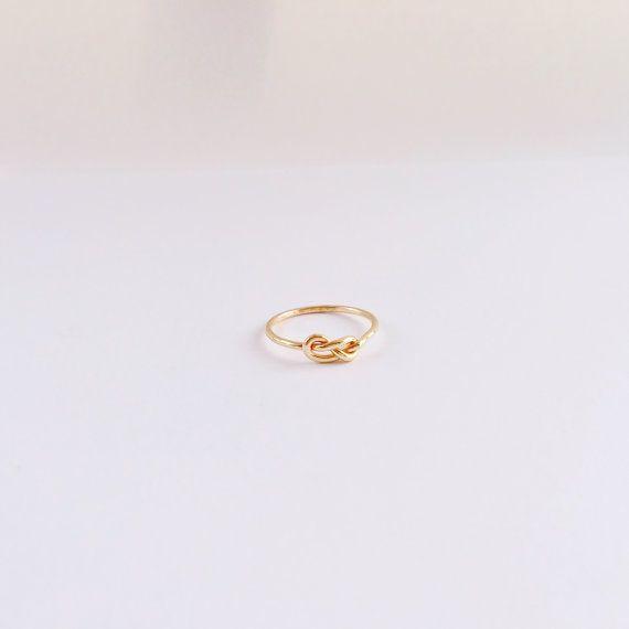 Ring für sie Versprechen Ringe Infinity Knot Ring von EllieJMaui