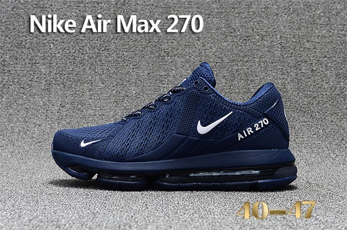 6d41726e122a6 2018 Latest Fashion Nike Air Max 270 KPU Mens Sneakers Deep Blue ...