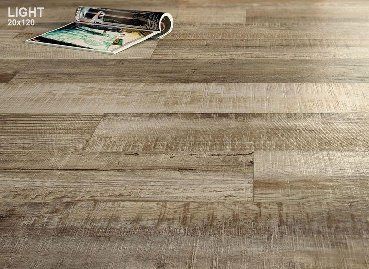 Italgraniti Group - SCRAPWOOD - highly textured porcelain wood-look tile
