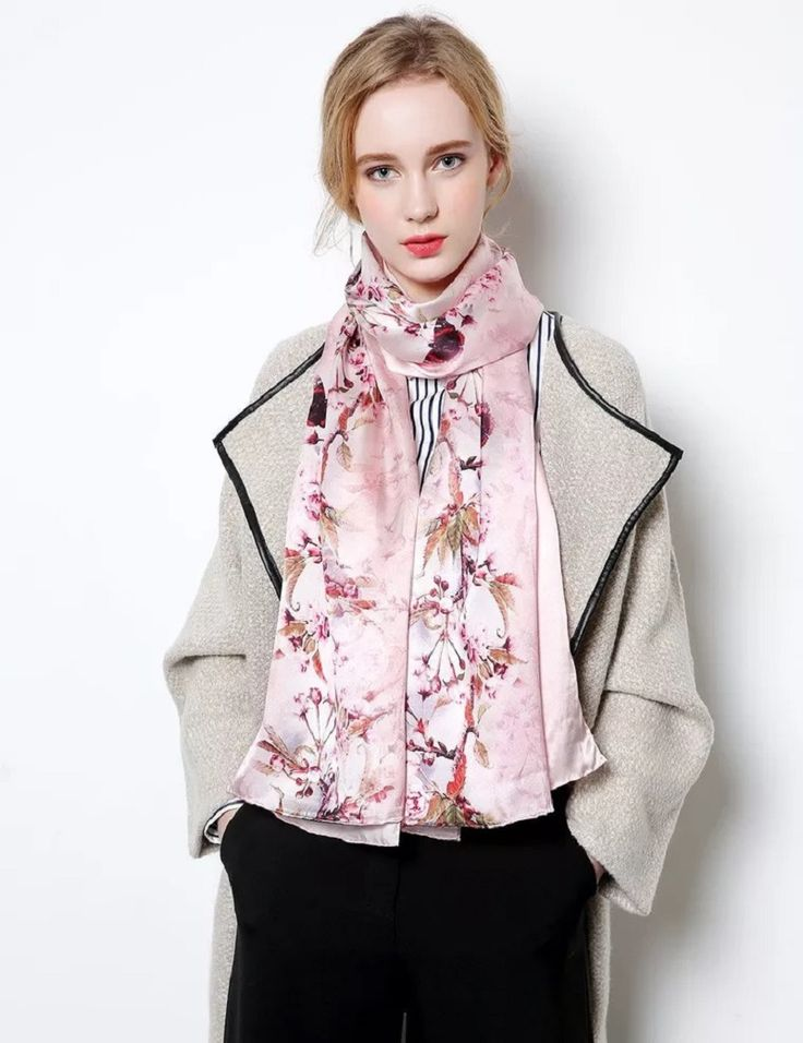 [Jinjin.QC] Fashion Silk Scarf Winter Women Scarves and Shawls Floral Silk Echarpe Foulard Femme jersey hijab bandana sjaal Hari Raya <3 AliExpress Affiliate's Pin.  Click the VISIT button for detailed description on AliExpress website