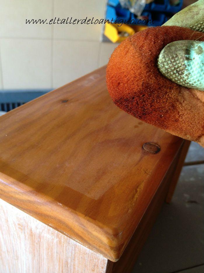 Transformar un mueble de pino tecnicas en madera pinterest - Transformar un mueble ...