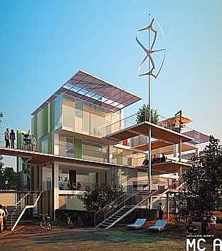 """Project for """"machine-house"""" by Cucinella Architects, Italy"""