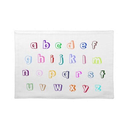 Colorful Coloring Alphabet Placemats, lower case letters