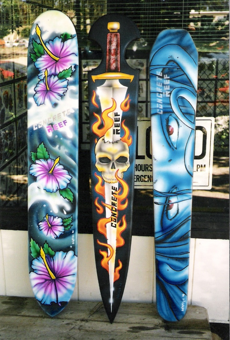Airbrush Textile on Wood by Edwin R. Shaffer - Big Bear Tattoo, 563 Pineknot (in the Village) Big Bear Lake CA 92315 - (909) 866-8014 WWW.BIGBEARTATTOO...