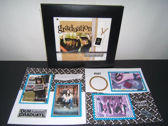 Graduation Scrapbook Album  Graduation by MadeForYouScrapbooks