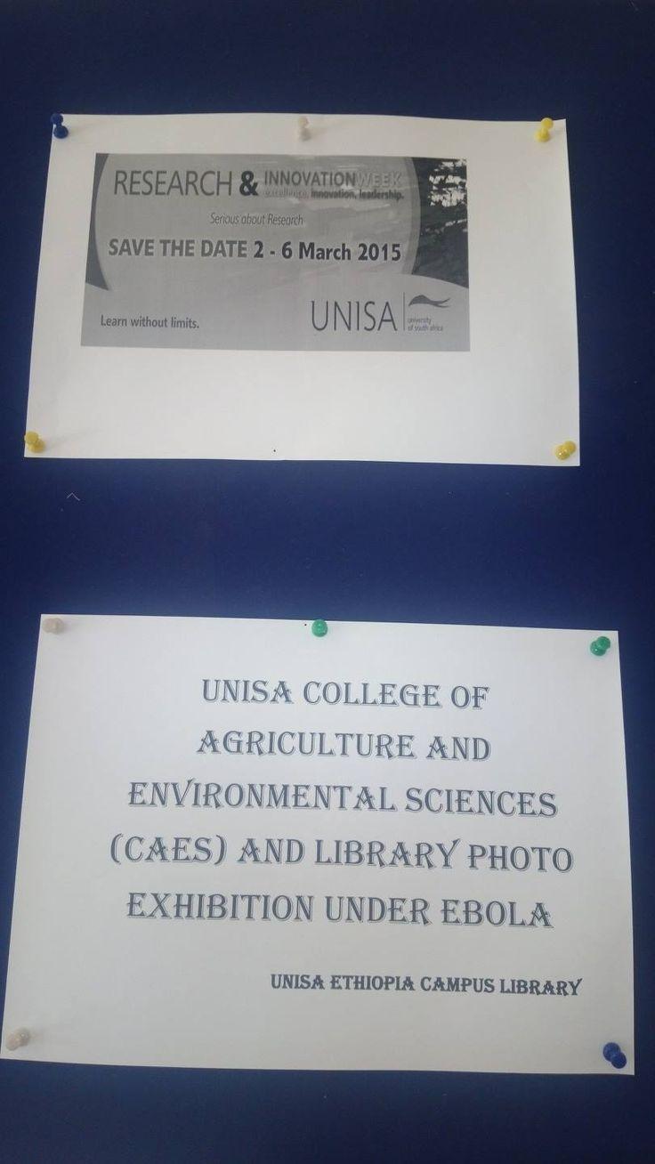 Ethiopia Library Ebola Display