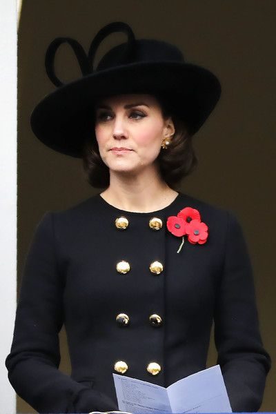 Kate Middleton Photos - Britain's Catherine, Duchess of Cambridge attends the Remembrance Sunday ceremony at the Cenotaph on Whitehall in central London, on November 12, 2017.