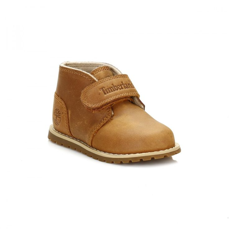 Timberland Toddlers Wheat Pokey Pine Chukka Boots: The Pokey Pine Chukka Boots by Timberland features a full grain leather upper, textile inner lining and an adjustable Velcro strap for a secure fit. A durable rubber sole designed to provide extra traction and increased stability. The leather uppers is coated with Timberland Splash Blaster which provides water and stain resistance helping these shoes look newer for longer.
