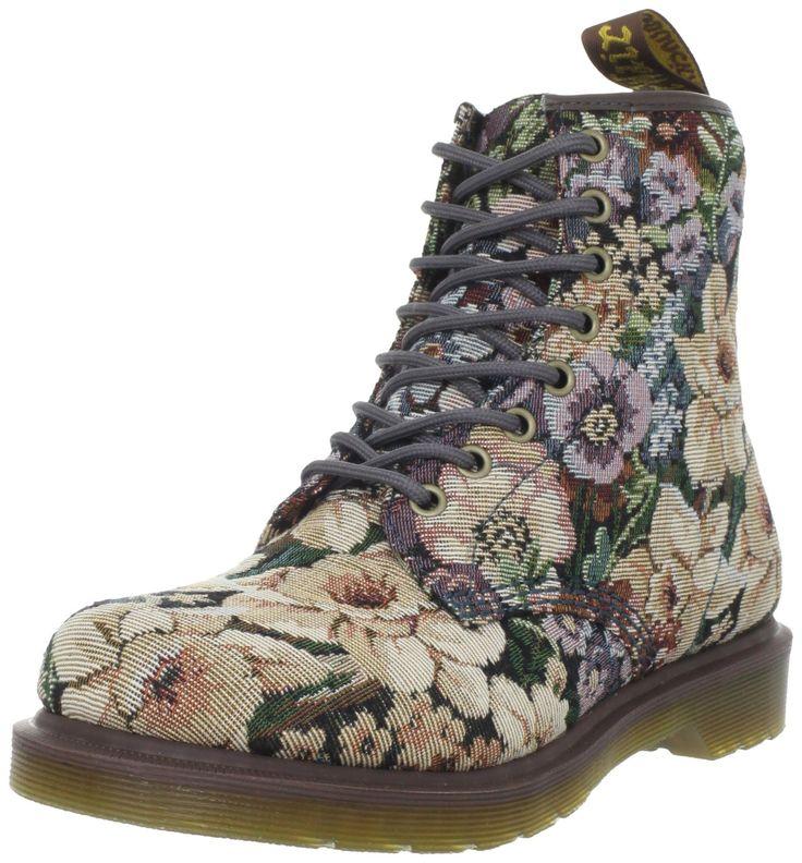 Dr Martens Women's Needlepoint Castel Multi Lace Ups Boots 14286101 4 UK: Amazon.co.uk: Shoes & Bags