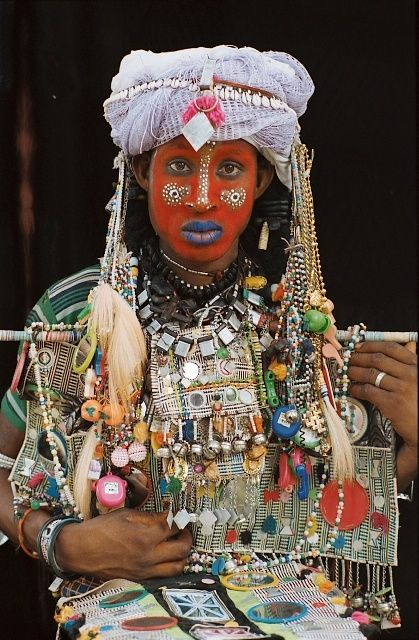 Woodabe man from southern Chad. Nomadic people who once a year, around July, gather for the Worso celebration.