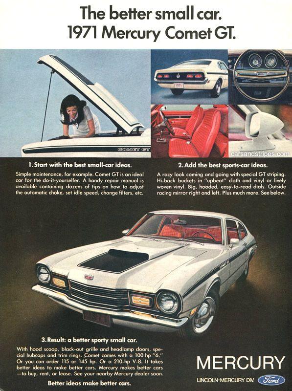 1971 Mercury Comet GT - The better small car - Original Ad
