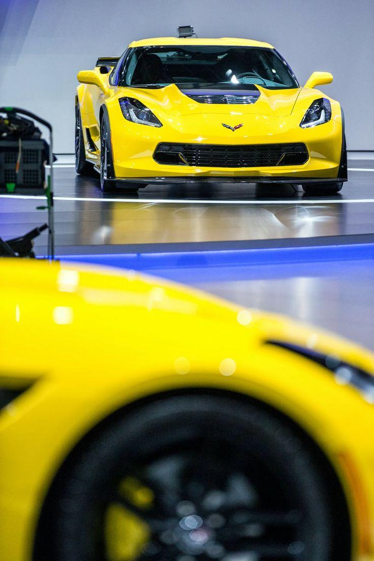 The 2014 chevrolet corvette stingray is presented at the geneva motor show in geneva switzerland